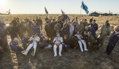 ISS crew after landing