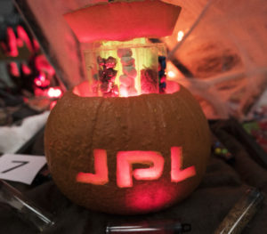 NASA's Jet Propulsion Laboratory held their sixth annual pumpkin carving contest, featuring flying saucers, meteors, and Pacman. Credit: NASA JPL