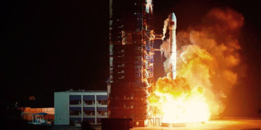 A Chinese Long March 3B rocket takes off in this 2016 file photo. Credit: Xinhua News Agency