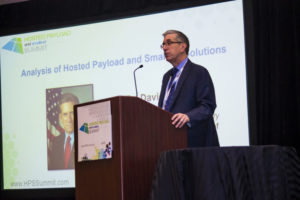 David Hardy, U.S. Air Force associate deputy under secretary,  for space, speaking Oct. 20 at the Hosted Payload Summit in Washington. Photo: U.S. Air Force