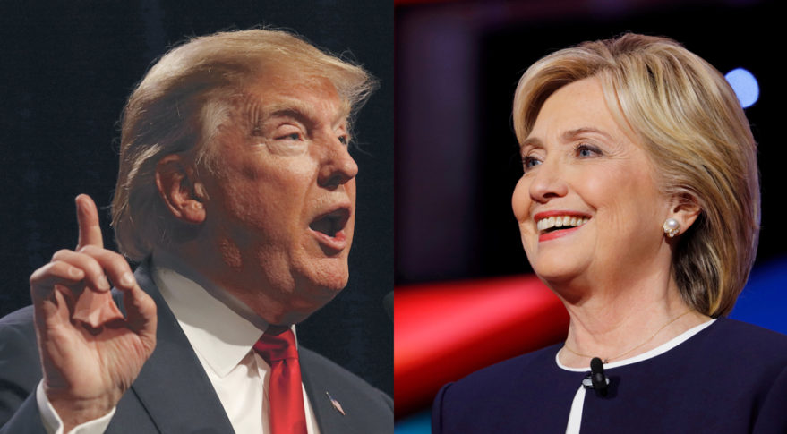 Donald Trump, the Republican nominee for U.S. president, and Hillary Clinton, the Democratic candidate, answered nine space-related questions posted by SpaceNews.   Credit: Joseph Sohm / Shutterstock.com