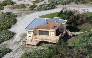 hurricane damage at Beach House