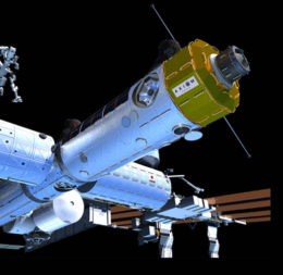 An illustration of Axiom Space's proposed commercial ISS module. Credit: Axiom Space
