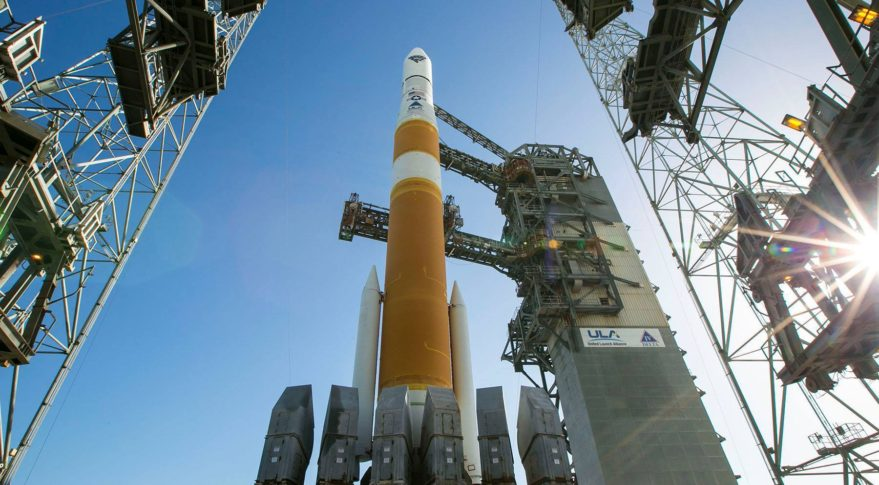 A United Launch Alliance Delta IV rocket lifts off from Cape Canaveral Air Force Station, Fla., carrying Geosynchronous Space Situational Awareness Program satellites for the Air Force. The service has been stepping up its investment in SSA - both within the military and with the commercial sector. Credit: ULA
