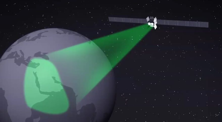 The final three satellites in the Air Force's 10-satellite WGS constellation include a digital channelizer that will boost capacity by enabling the satellite to use bandwidth more efficiently. Credit: Boeing WGS video still