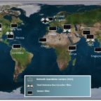 Kratos' current network of RF monitoring and interference detection sensors and geolocation systems. Credit: Kratos