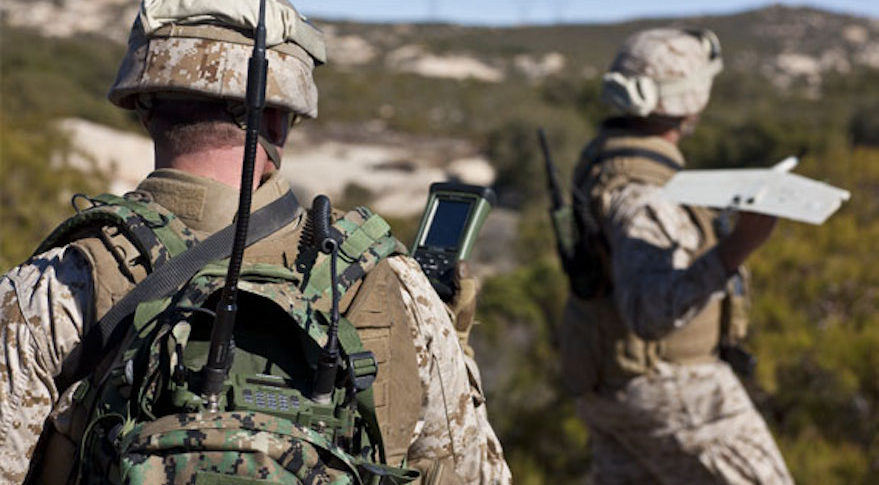 Harris Corp. says that 30,000 of its Falcon 3 AN/PRC-117G manpack radios are currently deployed. Credit:  Harris Corp.
