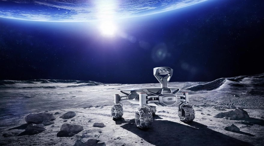 An illustration of the Audi Lunar Quattro rover that PT Scientists plans to send to the moon to win the Google Lunar X Prize. Credit: PT Scientists