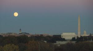 The Nov. 14 supermoon over Washington. Credit: NASA