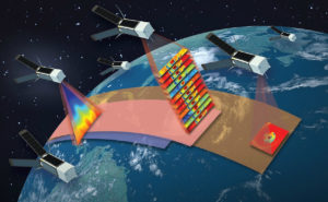 he Time-Resolved Observations of Precipitation structure and storm Intensity with a Constellation of Smallsats (TROPICS) investigation, 12 CubeSats about a foot long each, will study the development of tropical cyclones by taking measurements of temperature, precipitation and cloud properties as often as every 21 minutes. Credit: MIT Lincoln Laboratory