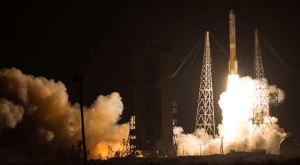 The Air Force's Wideband Global Satcom satellite 8 launches aboard a ULA Delta 4 rocket Dec. 7. Credit: ULA