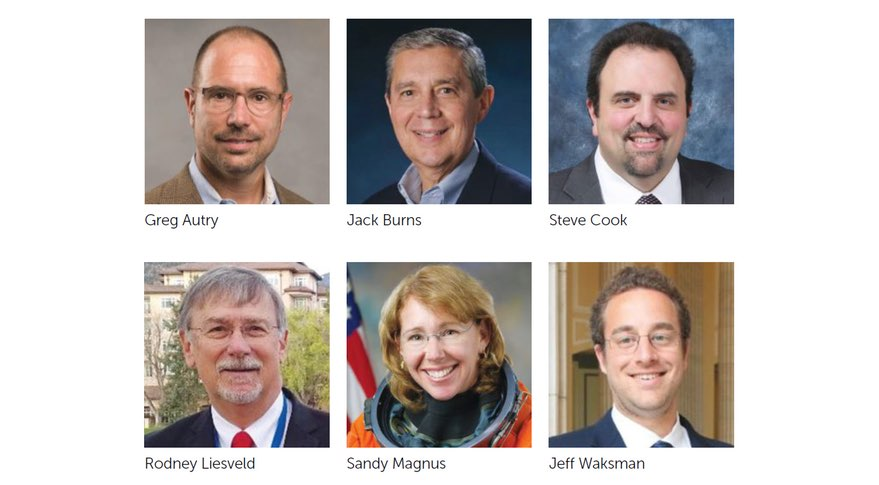 While the space community waited weeks to see who would be added to the NASA transition team, it looks to be one of the largest teams in recent memory. Six of the current eight members are pictured above.