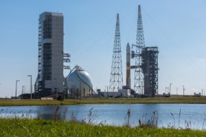 WGS-8 awaits launch aboard a ULA Delta 4 rocket early in the afternoon of Dec. 7 in Cape Canaveral, Fla. Credit: ULA