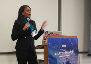 Tahara Dawkins, the director of NOAA's Commercial Remote Sensing Regulatory Affairs Office, says remote-sensing licensing applications are averaging 212 days to complete, instead of the 120 days required by a 2003 law.