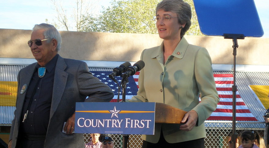 Former U.S. Rep. Heather Wilson (R-N.M.) campaigns for Senate in 2008. Credit: Steve Terrell/Flickr