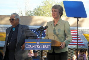 Heather Wilson campaigning for a U.S. Senate seat in 2008. Credit: Steve Terrell/Flickr