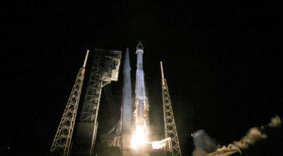 The Air Force's missile warning satellite, SBIRS GEO-3, lifted off aboard a ULA Atlas 5 rocket Jan. 20, after a 24-hour delay. Credit: ULA
