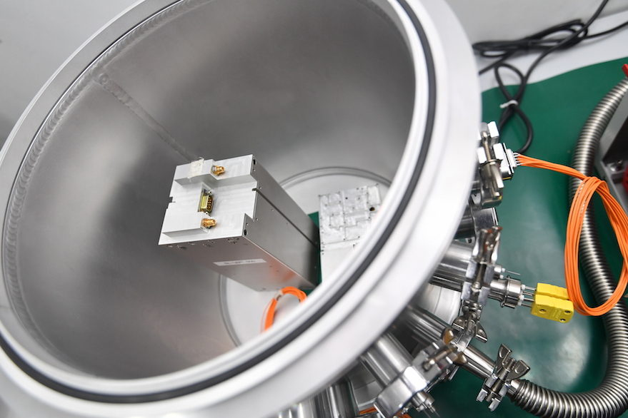 Addvalue produced the terminal for Inmarsat's Inter-Satellite Data Relay System, which was tested in orbit on the Velox-11 satellite built by Nanyang Technological University's Satellite Research Center in Singapore. Credit: AVI