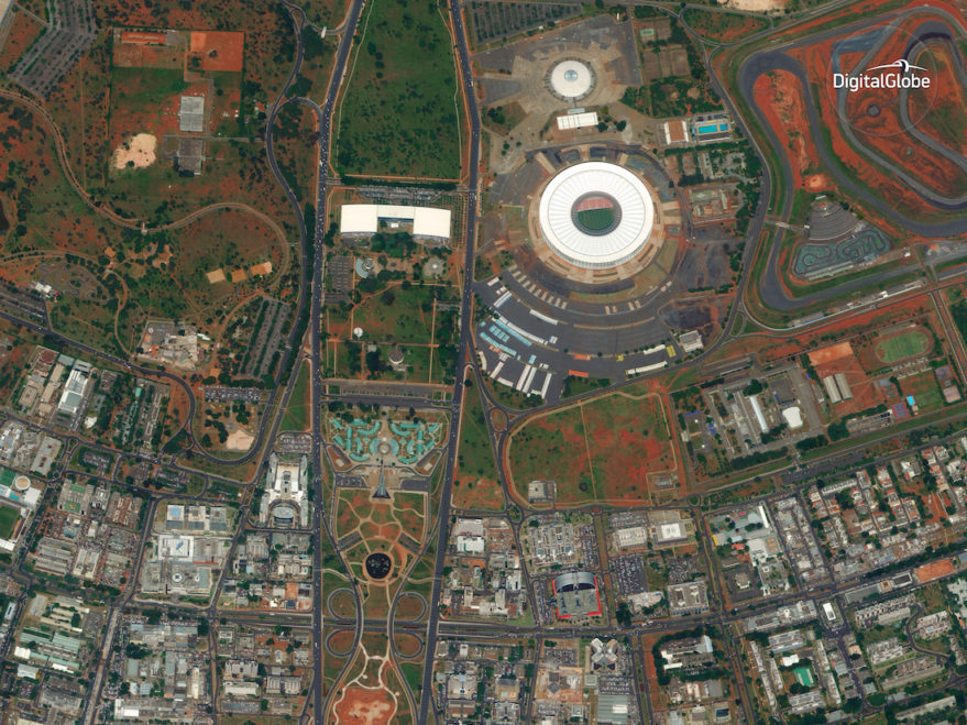 WorldView-4 captured this image of Brasilia on Jan. 11, 2017. Credit: DigitalGlobe