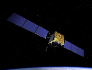 Artist's rendering of a GPS Block 2F satellite. Credit: Boeing.