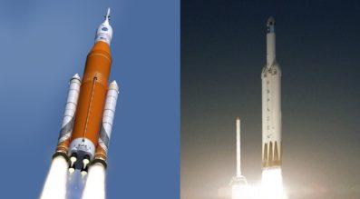 SLS versus Falcon Heavy