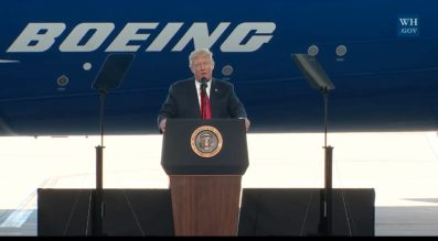 Trump at Boeing South Carolina