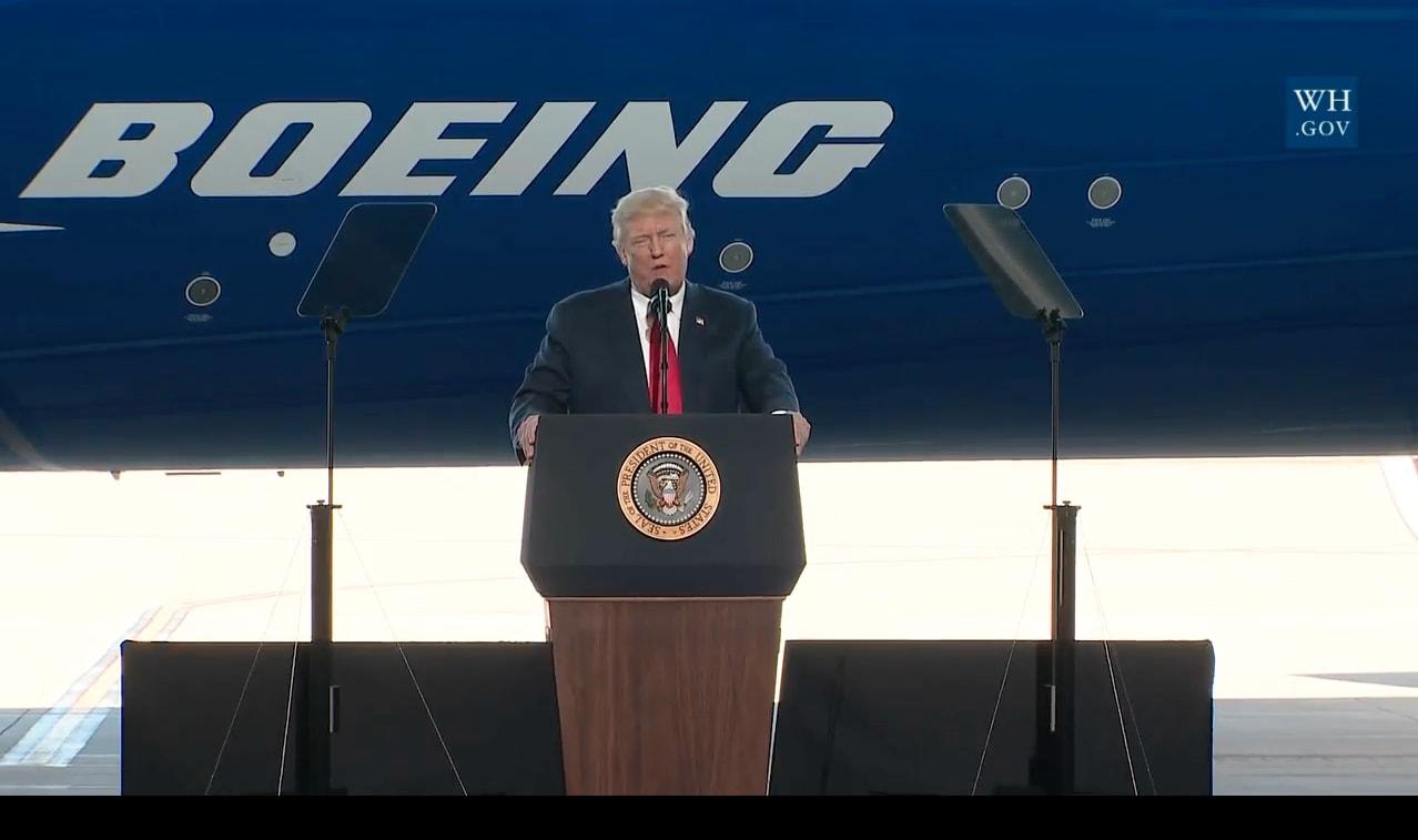 Trump at Boeing South Carolina