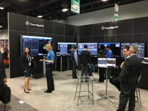 AGI's Commercial Space Operations Center (ComSpOC)  was on exhibit at Satellite 2017 in Washington. Credit: SpaceNews/Greg Thomas