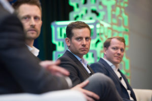 From left to right, Chris Boshuizen, Jason Andrews, Chad Anderson. Credit: Kate Patterson for SpaceNews