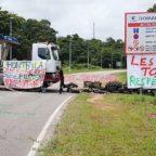 roadblock Kourou protest
