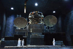 JCSAT-110A (previously known as JCSAT-15) was the first SSL 1300 satellite to use a 3D-printed antenna tower design. Credit: SSL
