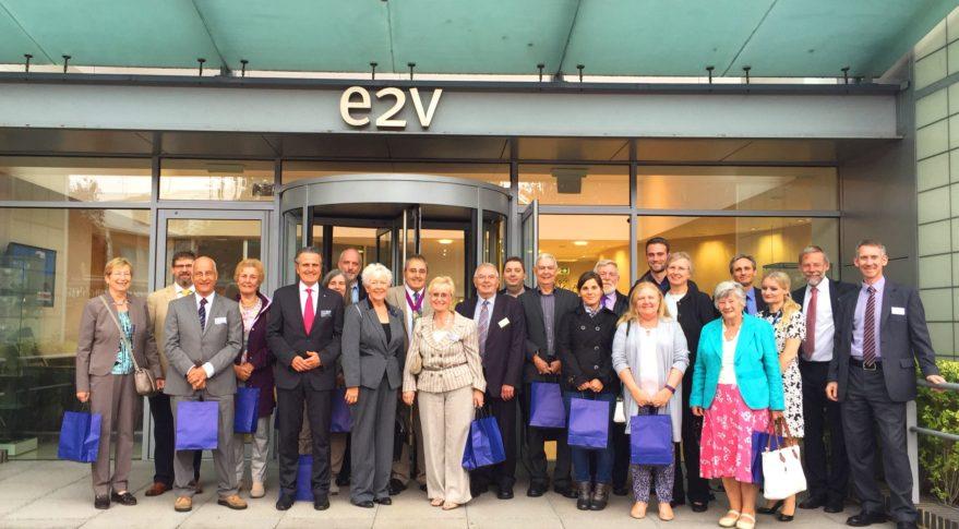 Mayor of Backnang visits e2v