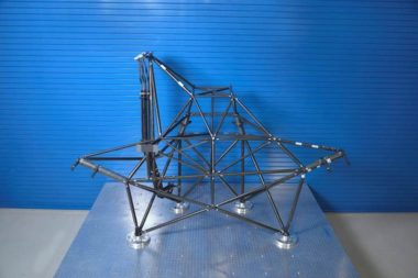 3D-printed strut tower structure. Credit: SSL