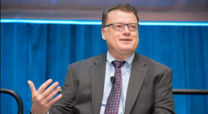 Wayne Haubner, senior vice president of emerging technologies at VT iDirect. Credit: Kate Patterson for SpaceNews