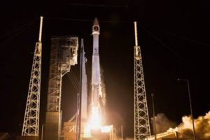 SBIRS GEO Flight 3 launches from Cape Canaveral Air Force Station, Florida, Jan. 20 aboard a United Launch Alliance Atlas 5. On March 21, Lockheed Martin announced that the satellite is operational and transmitting images. Credit: Lockheed Martin