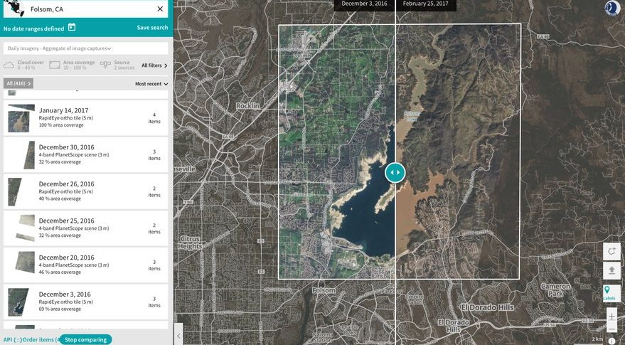 a screenshot of planet explorer beta which overlays images from planets satellites onto maps credit planet