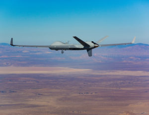 "Hughes Network Systems won a contract to provide milsatcom support for General Atomics Aeronautical Predator B ""SkyGuardian"" unmanned aerial systems. Credit: General Atomics"