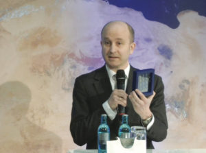 Holger Krag, head of the European Space Agency's Space Debris Office, only 60 percent of all missions currently end with a successful disposal of the satellite in line with orbital debris mitigation guidelines promulgated by the United Nations. Credit: ESA video screenshot