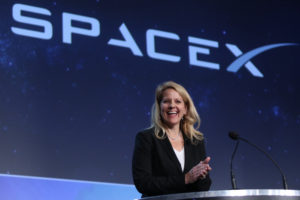 """Looking forward for reusability, we don't believe it really, really counts unless you can turn it around rapidly, or almost as rapidly, as you turn around an aircraft,"" SpaceX President Gwynne Shotwell said Wednesday at the 33rd Space Symposium. ""Our challenge right now is to refly a rocket within 24 hours. That's when we'll really feel like we've got reusability right."" Credit: Tom Kimmell"