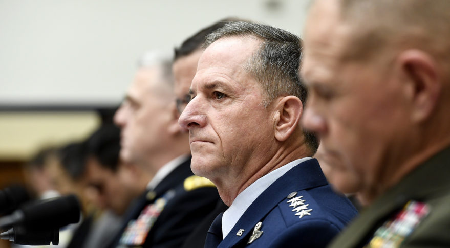 Air Force Chief of Staff Gen. David Goldfein testifies before the House Armed Services Committee April 5, 2017. Credit: Scott Ash/Air Force