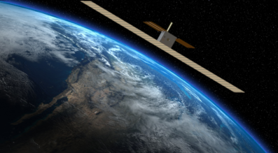 Artist's rendering of Capella Space's synthetic aperture radar cubesat. Credit: Capella Space