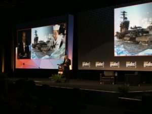 """There is an opportunity in this environment for us to propose and defend and compete for additional resources,"" NGA Director Robert Cardillo said June 6 at the annual GEOINT Symposium. ""It is within the realm of possibility. No guarantees. It's not going to be handed to us like in the good old days, but I think the opening is there."" Credit: U.S. Geospatial Intelligence Foundation"