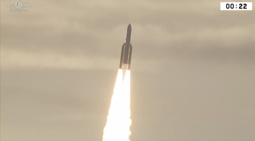 Ariane 5 VA238 Arianespace Inmarsat ISRO Hellas Sat