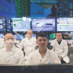 A Xinhua photo showing workers during the on-orbit refueling of the Tiangong-2 space station module in April. Credit: Xinhua, NASA
