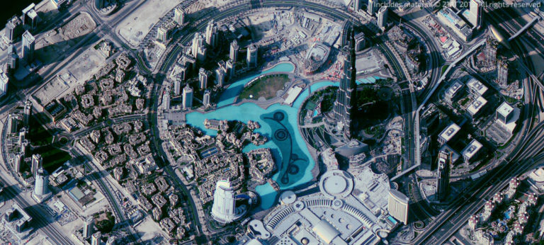 Earth-i captured this image of Dubai, United Arab Emirates, with a satellite in its DMC-3 constellation. Credit: Earth-i