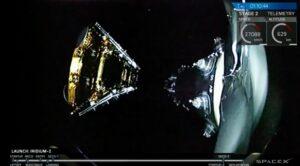 SpaceX Iridium satellite deployment
