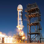 Space for Humanity is considering purchasing rides for participants on Blue Origin's New Shepard reusable, suborbital rocket, which has undergone multiple test flights, and may take tourists into space as early as 2018. Credit: Blue Origin