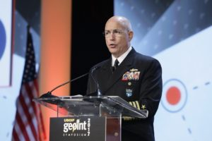 Adm. Kurt Tidd, leader of U.S. Southern Command, told GEOINT 2017 that South America presents unique opportunities to test new geospatial capabilities. Credit: USGIF
