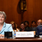 Secretary of the Air Force Heather Wilson and Air Force Chief of Staff Gen. David Goldfein testify before the Senate Appropriations Committee for Defense June 21, 2017, in Washington, D.C.  The subcommittee hearing was held to discuss the White House 2018 budget request for the U.S. Air Force. Credit: U.S. Air Force photo/Scott M. Ash