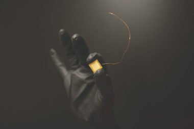 A dime-sized thruster chip developed by Accion Systems. Credit: Accion Systems